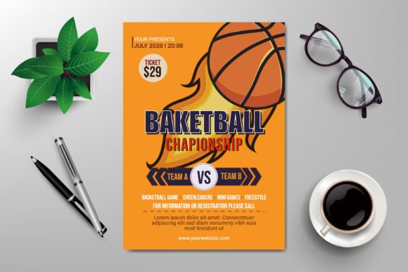 Basketball Championship Flyer Template Graphic Print Templates By SugarV_Creative