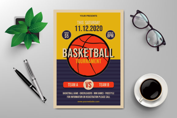 Basketball Tournament Flyer Template Graphic Print Templates By SugarV_Creative