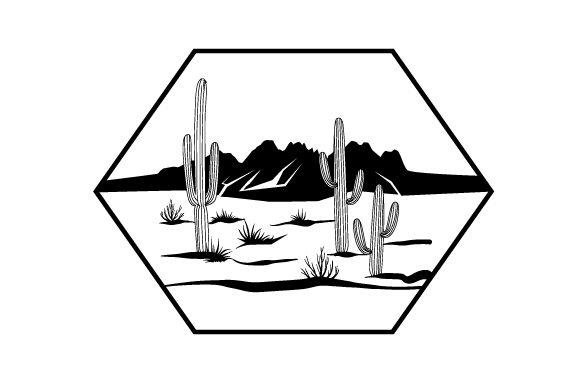 Cacti in the Desert Cut File