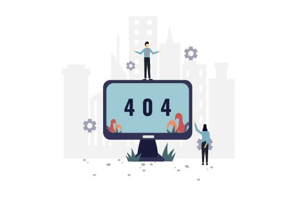 Print on Demand: 404 Error Not Found Flat Illustration Graphic Illustrations By pnajlab