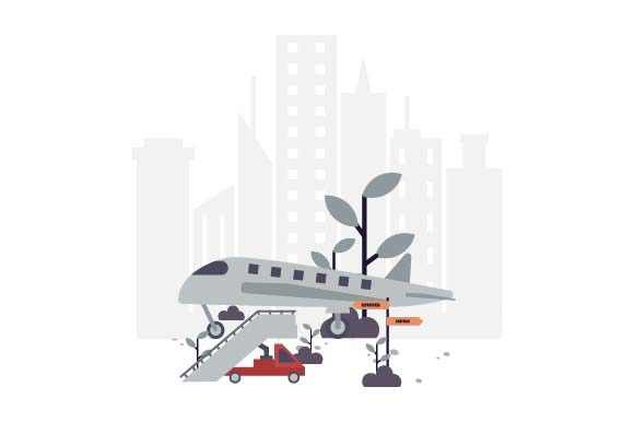 Print on Demand: Airport Flat Illustration Graphic Illustrations By pnajlab
