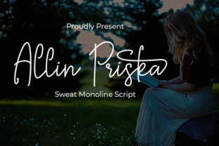 Print on Demand: Allin Priska Script & Handwritten Font By Nabila Graphic