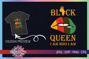 Black Queen I Am Who I Am Lips Graphic Print Templates By ssflower