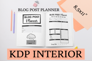 Print on Demand: Blog Post Planner | KDP Interior Graphic KDP Interiors By KDP Mastermind