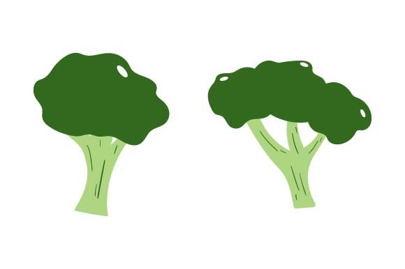 Print on Demand: Broccoli Clipart Graphic Crafts By pnajlab