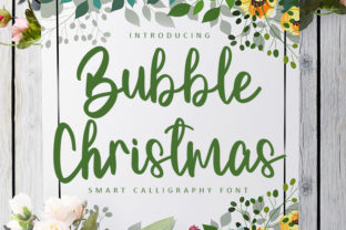 Print on Demand: Bubble Christmas Script & Handwritten Font By FreshTypeINK