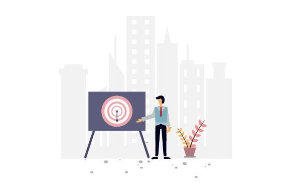 Print on Demand: Business Target Flat Illustration Graphic Illustrations By pnajlab