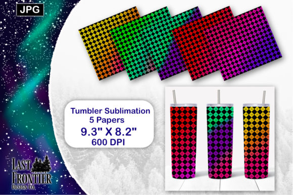 Download Checkered Tumbler Wrap Sublimation SVG Cut Files