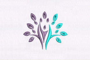 Colorful Elm Forest & Trees Embroidery Design By DigitEMB