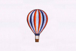 Colorful Hot Air Balloon Hobbies & Sports Embroidery Design By DigitEMB
