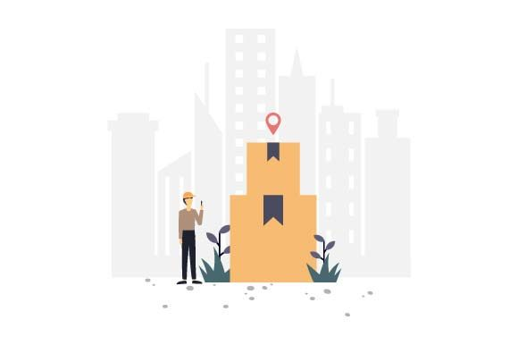 Print on Demand: Courier Delivery Flat Illustration Graphic Illustrations By pnajlab