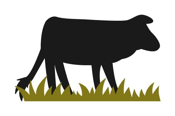 Print on Demand: Cow Silhouette Graphic Crafts By pnajlab