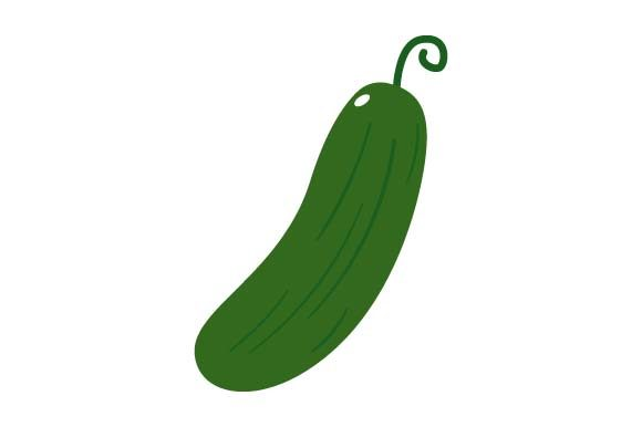 Print on Demand: Cucumber Clipart Graphic Crafts By pnajlab