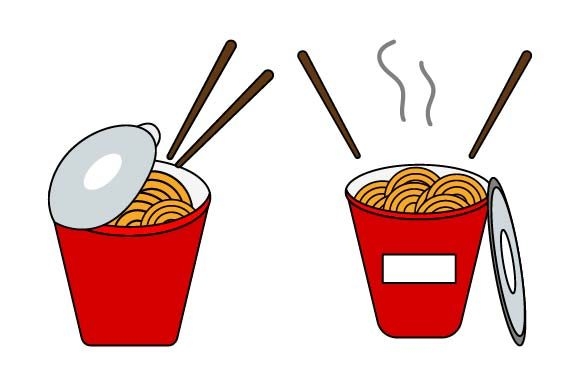 Print on Demand: Cup Noodles Clipart Graphic Crafts By pnajlab