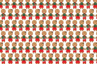 Print on Demand: Cute Gingerbread Pattern Theme Gráfico Crafts Por Arief Sapta Adjie II