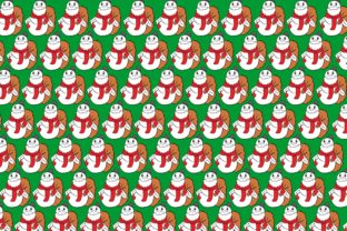 Print on Demand: Cute Snowman Pattern Theme Graphic Crafts By Arief Sapta Adjie II