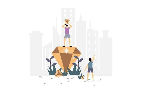 Print on Demand: Daimond Flat Illustration Graphic Illustrations By pnajlab