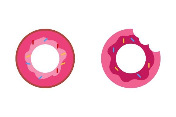 Print on Demand: Donut Clip Art Graphic Crafts By pnajlab