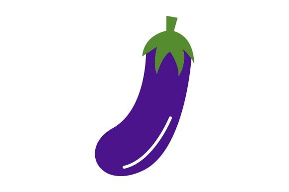 Print on Demand: Eggplant Clipart Graphic Crafts By pnajlab