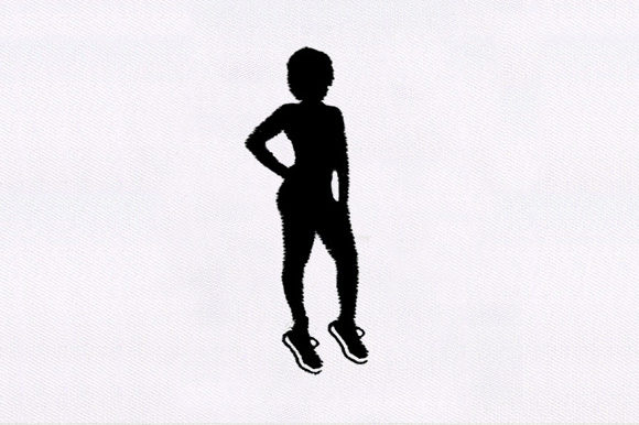 Female Silhouette Beauty Embroidery Design By DigitEMB