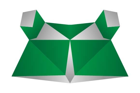 Print on Demand: Frog Head Origami Logo Graphic Logos By pnajlab