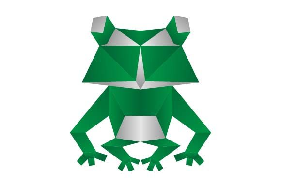 Print on Demand: Frog Origami Logo Graphic Logos By pnajlab
