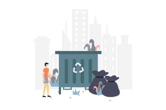 Print on Demand: Garbage Dump Flat Illustration Graphic Illustrations By pnajlab