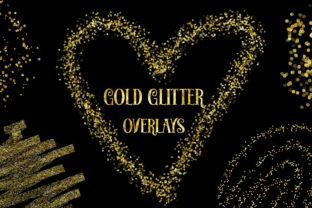 Gold Glitter Overlays Clipart Graphic Backgrounds By PinkPearly