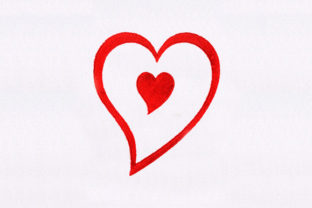 Gorgeous Heart Valentine's Day Embroidery Design By DigitEMB