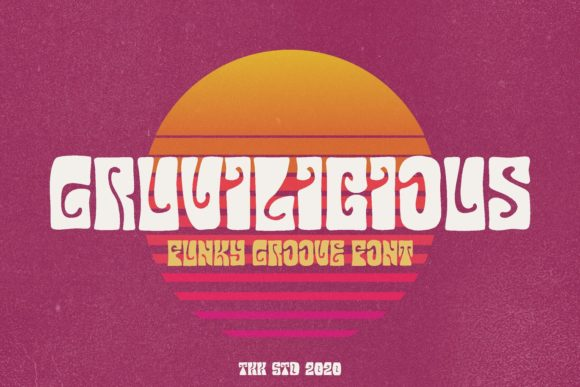 Print on Demand: Gruvilicious Display Font By tokokoo.studio