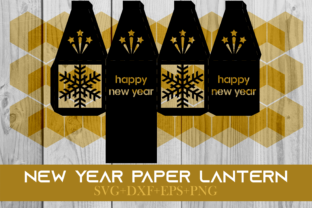 Print on Demand: Happy New Year Paper Lantern Series 0031 Graphic 3D SVG By Cerescrafts