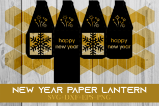 Print on Demand: Happy New Year Paper Lantern Series 0035 Graphic 3D SVG By Cerescrafts