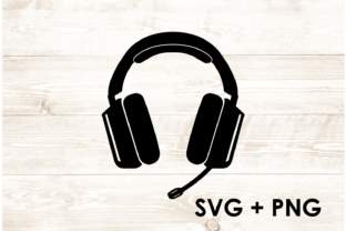 Print on Demand: Headset Gamer Gaming Console SVG PNG Graphic Print Templates By Too Sweet Inc