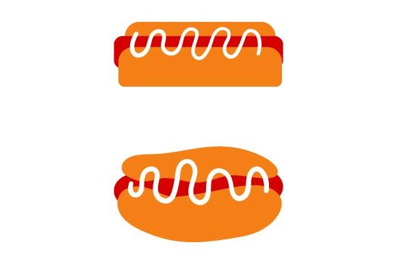 Print on Demand: Hot Dog Clipart Graphic Crafts By pnajlab