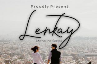 Print on Demand: Lenkay Script & Handwritten Font By Nabila Graphic