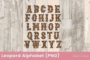 Leopard Alphabet Clipart Graphic Crafts By Glam Creations