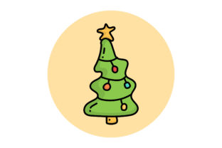 Print on Demand: Logo Icon Marry Christmas and New Year Graphic Logos By Thingraphic