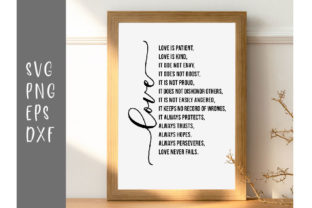 Love is Patient is Kind Does Not Envy .. Graphic Crafts By designtwits