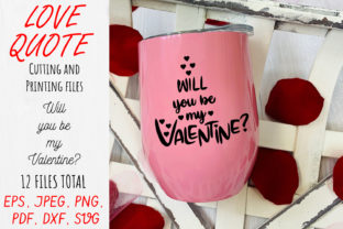 Print on Demand: Will You Be My Valentine? Graphic Crafts By OK-Design 4