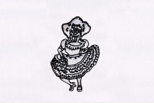 Mexican Lady Mexico Embroidery Design By DigitEMB