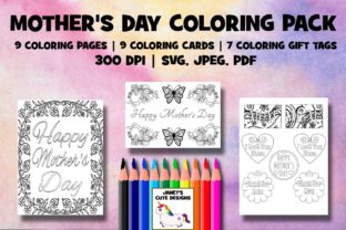 Print on Demand: Mother's Day Coloring Pack Graphic Coloring Pages & Books By Janet's Cute Designs