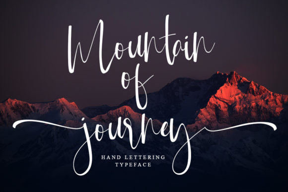 Print on Demand: Mountain of Journey Script & Handwritten Font By ONE DESIGN