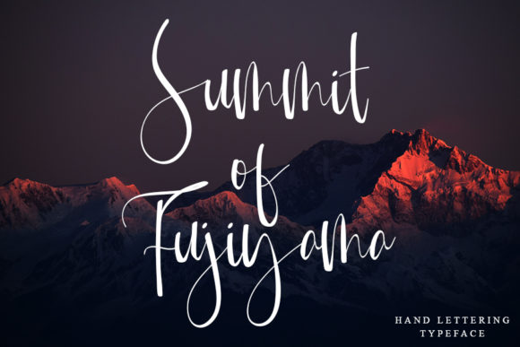 Mountain of Journey Font Design