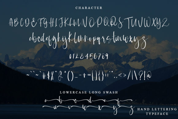 Mountain of Journey Font Preview