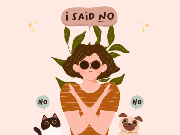 Print on Demand: No Means No Concept Vector Illustration Graphic Illustrations By Musbila