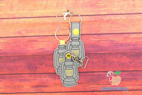 Old Lantern ITH Key Fob Pattern Backgrounds Embroidery Design By embroiderydesigns101