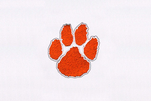 Orange Paw Animal Quotes Embroidery Design By DigitEMB