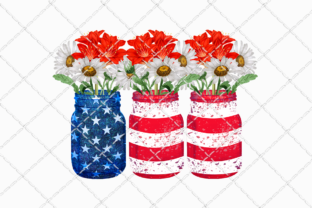Patriotic Flowers Sublimation Design Graphic Illustrations By Inkredible Image