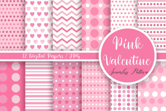 Pink Valentine Seamless Pattern Graphic Patterns By PinkPearly