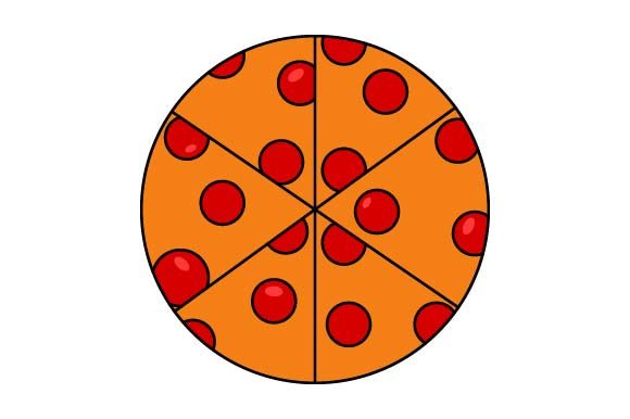 Print on Demand: Pizza Clip Art Graphic Crafts By pnajlab